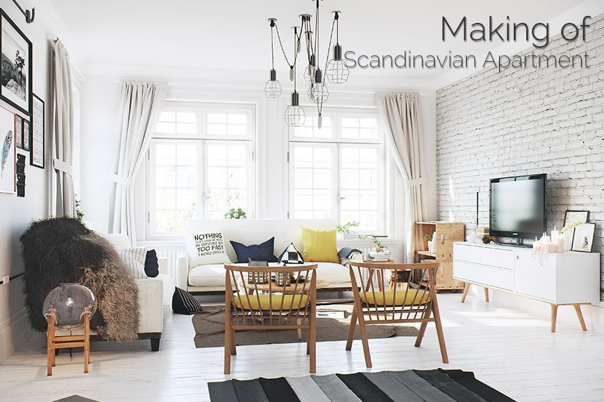 Making of Scandinavian Apartment